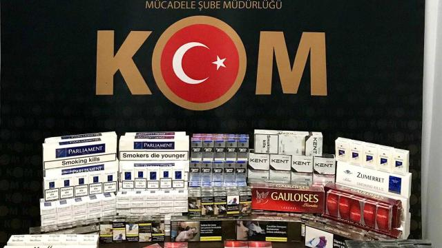 Bitliste 800 paket kaçak sigara ele geçirildi