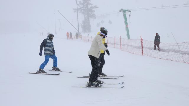 Kartalkayada kar yağışı etkili oluyor