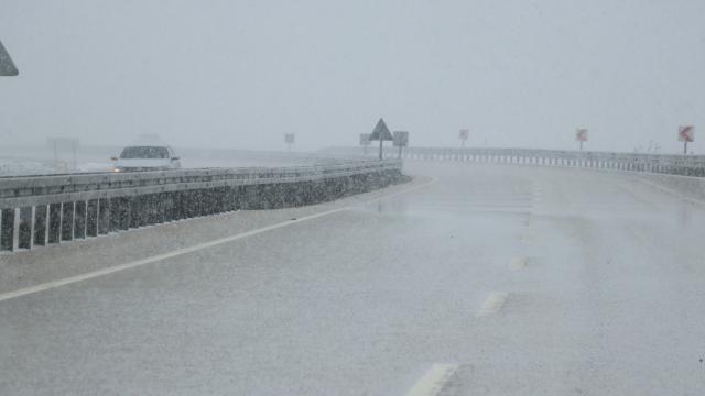 Kastamonuda kar yağışı etkili oldu