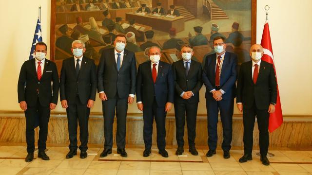 Meclis Başkanı Şentop, Bosna Hersek heyetiyle bir araya geldi