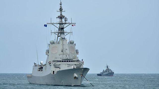 NATO savaş gemileri Gürcistanda