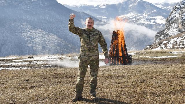 İlham Aliyev, Şuşada Nevruz ateşini yaktı: Şuşa, sen özgürsün