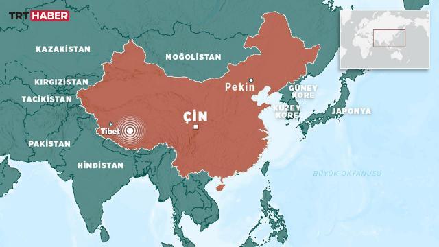 Çinde 6,1 büyüklüğünde deprem