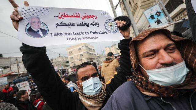 UNRWAnın mültecilere eşit gıda dağıtım kararı Gazzede protesto edildi