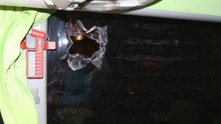 Giresunspor'u taşıyan otobüse taşlı saldırı