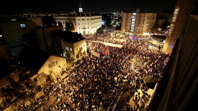 İsrailde Netanyahu karşıtı gösteriler 9uncu ayında