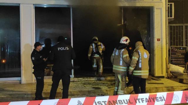 Maltepede iş yerinde yangın: 1 kişi öldü