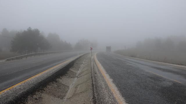 Zonguldak ve Sakaryada yoğun sis etkili oluyor
