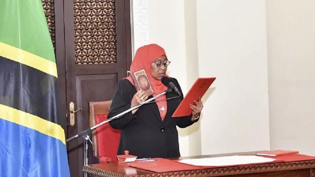 Tanzanyanın ilk kadın Devlet Başkanı Samia Suluhu Hassan