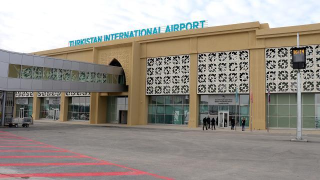 Türkistandan ilk uluslararası uçuş Türkiyeye yapıldı
