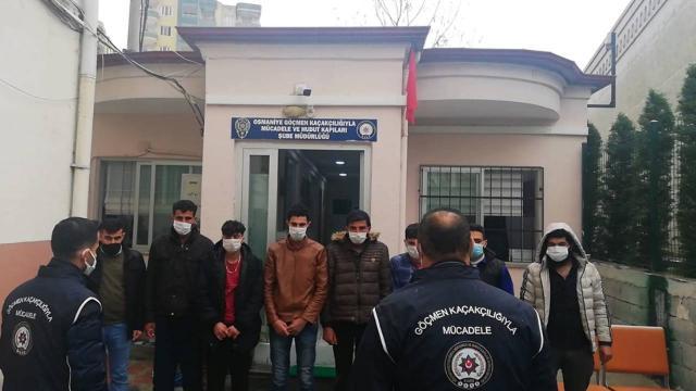 Kırklarelinde 7 düzensiz göçmen yakalandı