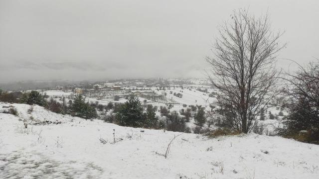 Kastamonuda kar yağışı etkili oluyor