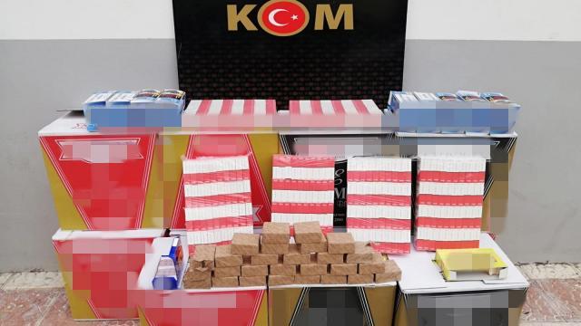 Malatyada 116 bin 800 kaçak makaron ele geçirildi: 1 gözaltı