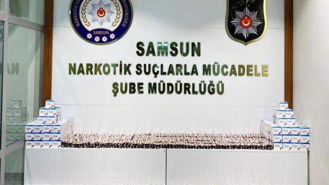 Samsunda 16 bin 821 kapsül sentetik hap ele geçirildi