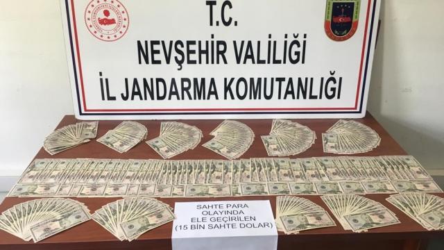 Nevşehirde 299 adet sahte 50 dolarlık banknot ele geçirildi