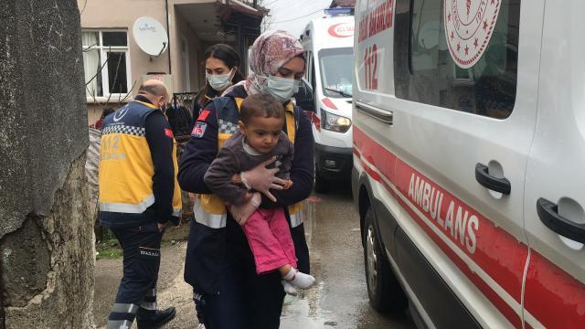 Düzcede karbonmonoksitten etkilenen aynı aileden 4 kişi hastaneye kaldırıldı