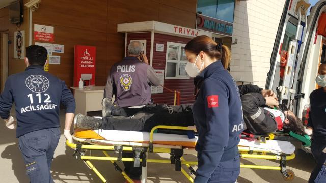 İnegölde devrilen motosikletin sürücüsü yaralandı