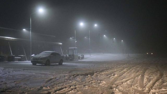 Zonguldak-İstanbul kara yolunda kar yağışı etkili oluyor