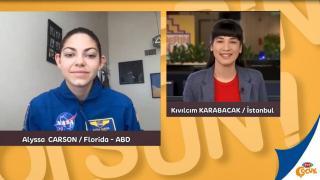 Dünyaca ünlü astronot adayı Alyssa Carson TRT Çocuk'ta