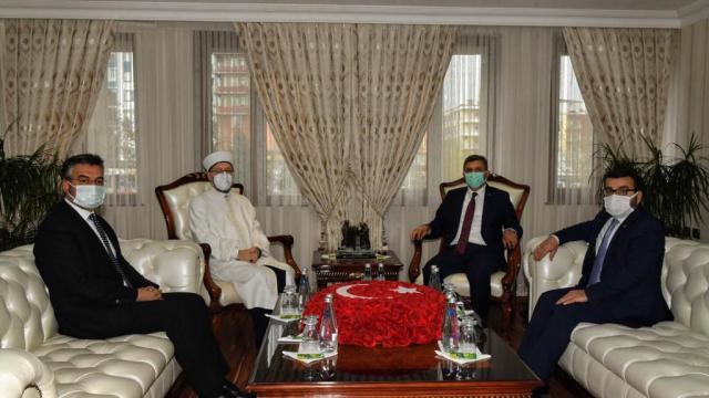 Diyanet İşleri Başkanı Ali Erbaş, Batman Valiliğini ziyaret etti
