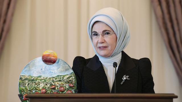 Emine Erdoğana Küresel Amaçlar Eylem Ödülü