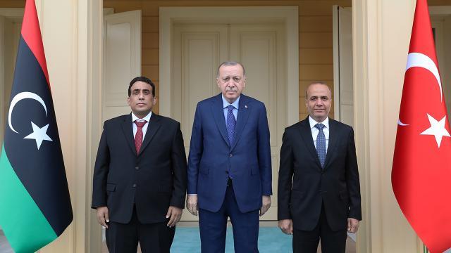 Cumhurbaşkanı Erdoğan, Libya Başkanlık Konseyi Başkanı Menfiyi kabul etti