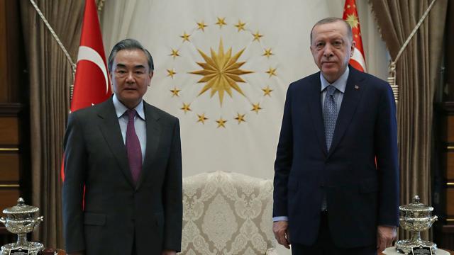 Cumhurbaşkanı Erdoğan, Çin Dışişleri Bakanını kabul etti