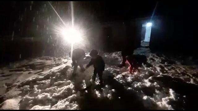 6 yıl sonra bir ilk: Serikliler karla buluştu