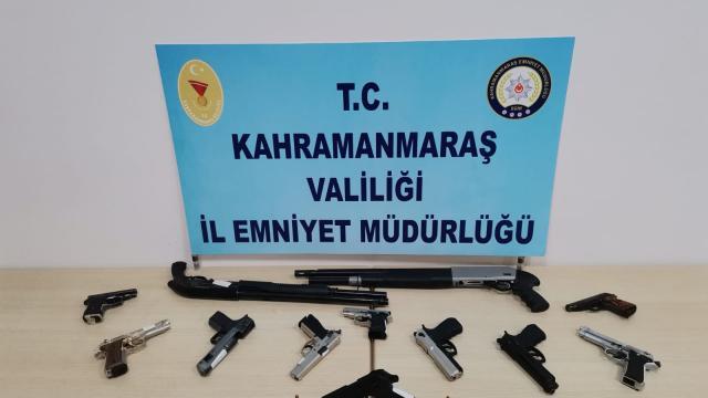Kahramanmaraşta polis denetimlerinde 19 silah ele geçirildi