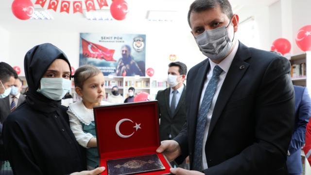 Sivasta şehit polis memuru Muhammed Demirin adı kütüphanede yaşatılacak