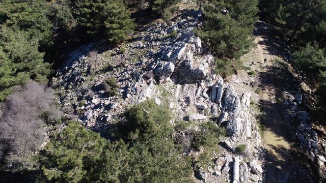 Helenistik ve Roma dönemlerinde kullanılan taş ocağı keşfedildi