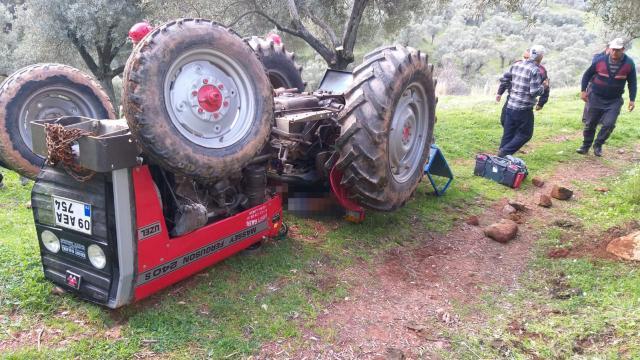 Aydında devrilen traktörün sürücüsü hayatını kaybetti