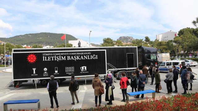 Cumhurbaşkanlığı İletişim Başkanlığı Dijital Tırı 7. durağı Muğlada ziyarete açıldı