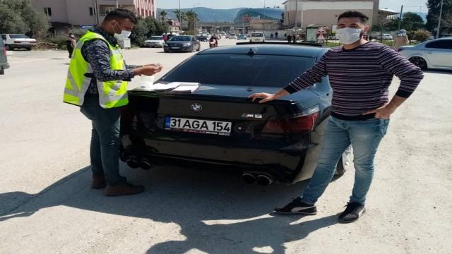 Otomobiliyle drift yapan sürücüye 6 bin 700 lira ceza