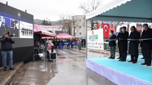 Bartındaki DSİ yatırımları, Cumhurbaşkanı Erdoğanın canlı bağlantıyla verdiği talimatla hizmete girdi