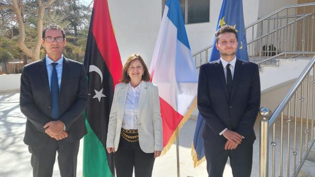 Fransanın Libyadaki büyükelçiliği 7 yıl aradan sonra yeniden faaliyette