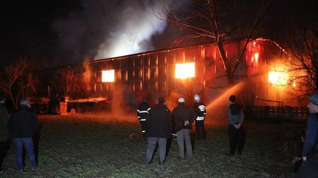 Kütahyada ambalaj fabrikasında yangın