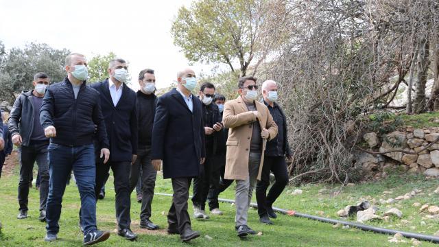 Mardin Valisi Demirtaş, Beşdeğirmen Köyü şelalelerinde incelemelerde bulundu