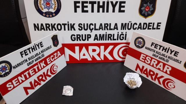 Muğlada uyuşturucu operasyonunda yakalanan 2 zanlı tutuklandı