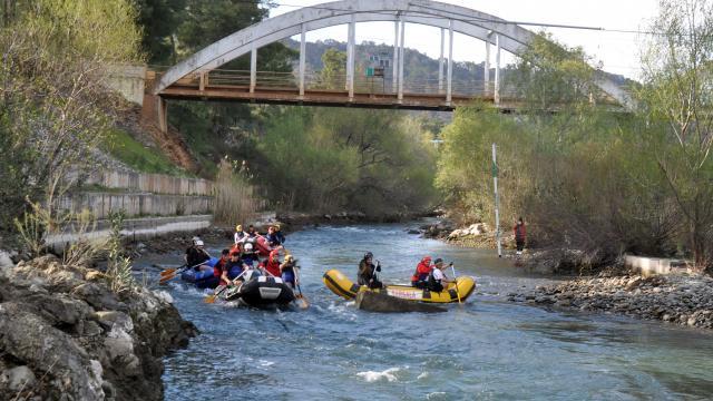 Dalamanda tarihi Atatürk Köprüsü raftingle buluşuyor