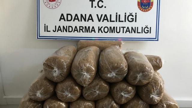 Adanada şüphe üzerine durdurulan iki araçta 680 kilogram kaçak tütün ele geçirildi