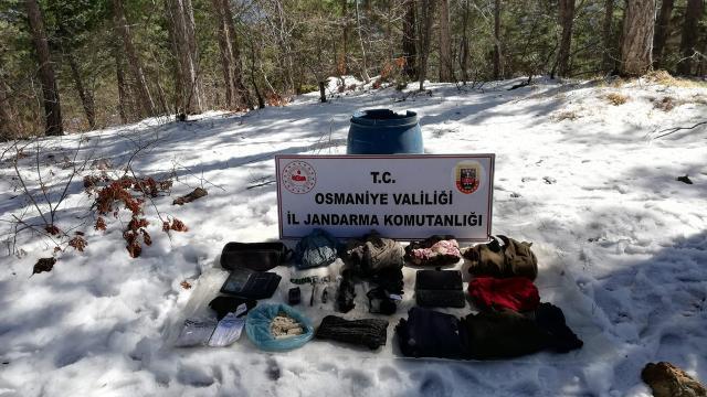 Amanoslarda PKKlı teröristlerce kullanılan sığınak imha edildi