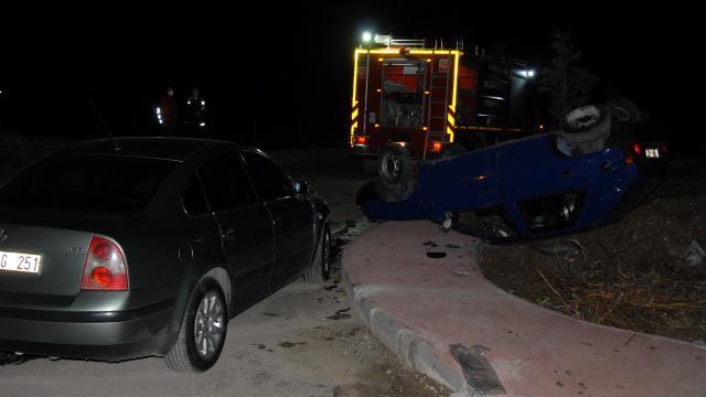 Kırıkkalede iki otomobil çarpıştı: 1 yaralı