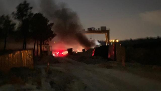 Arnavutköyde metro inşaatında yangın meydana geldi