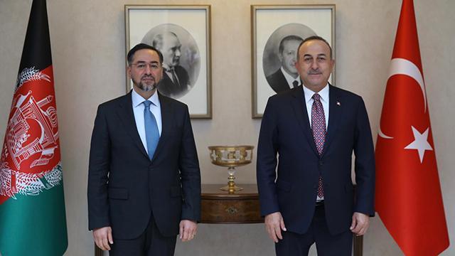 Bakan Çavuşoğlu, Afganistanın eski Dışişleri Bakanı Rabbani ile görüştü
