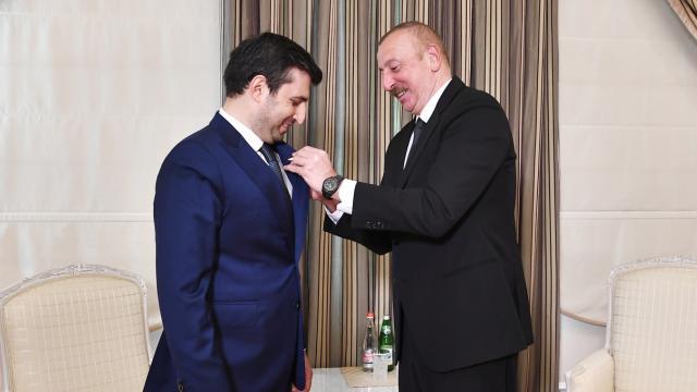 Azerbaycan Cumhurbaşkanı Aliyevden Selçuk Bayraktara Karabağ Nişanı