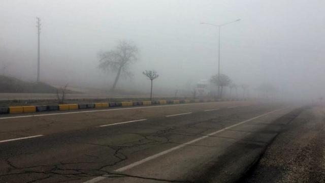 Keskinde yoğun sis etkili oldu