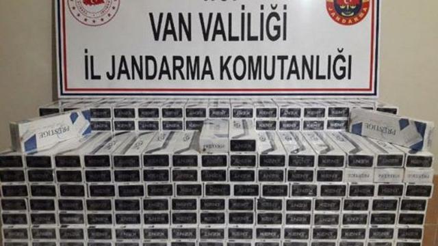 Vanda 2 bin 815 paket kaçak sigara ele geçirildi