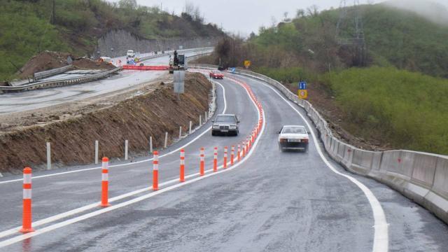 Batı Karadeniz bağlantı yolu çift yönlü ulaşıma açıldı