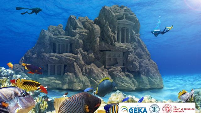 Fethiye koylarında tematik sualtı tarih parkı için hazırlanan projeye 1 milyon lira destek verildi